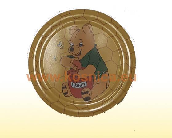 Metalni poklopac za tegle (staklenke) meda s motivom medvjeda