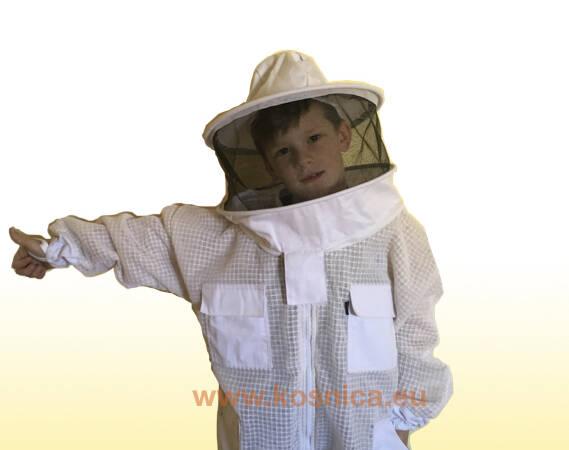 Košnica ventilirajuća zaštitna pčelarska odjeća. Dječji pčelarski kombinezon