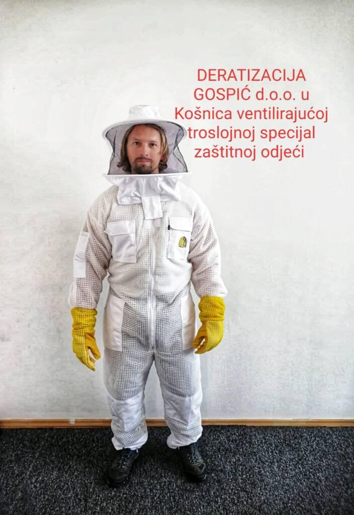 Ventilirajuća troslojna prozračna odjeća ima u kolekciji pčelarski kombinezon i pčelarsku jaknu s šeširom.